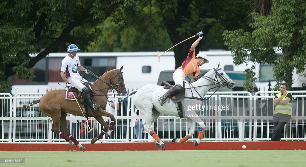 C.Laprida of La Aguada Las Monjitas in action during a polo match between La Aguada Las Monjitas and La Aguada as part of the 119th Argentine Open Polo Championship, at the Campo Argentino de Polo on November 25, 2012 in Buenos Aires, Argentina.