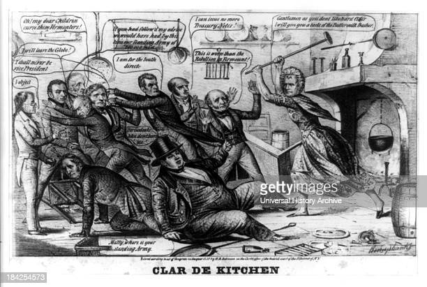 Clar de kitchen by Napoleon Sarony Henry R Robinson circa 1840 Lithograph print on wove paper Political cartoon satirizing the Whig campaign of the...