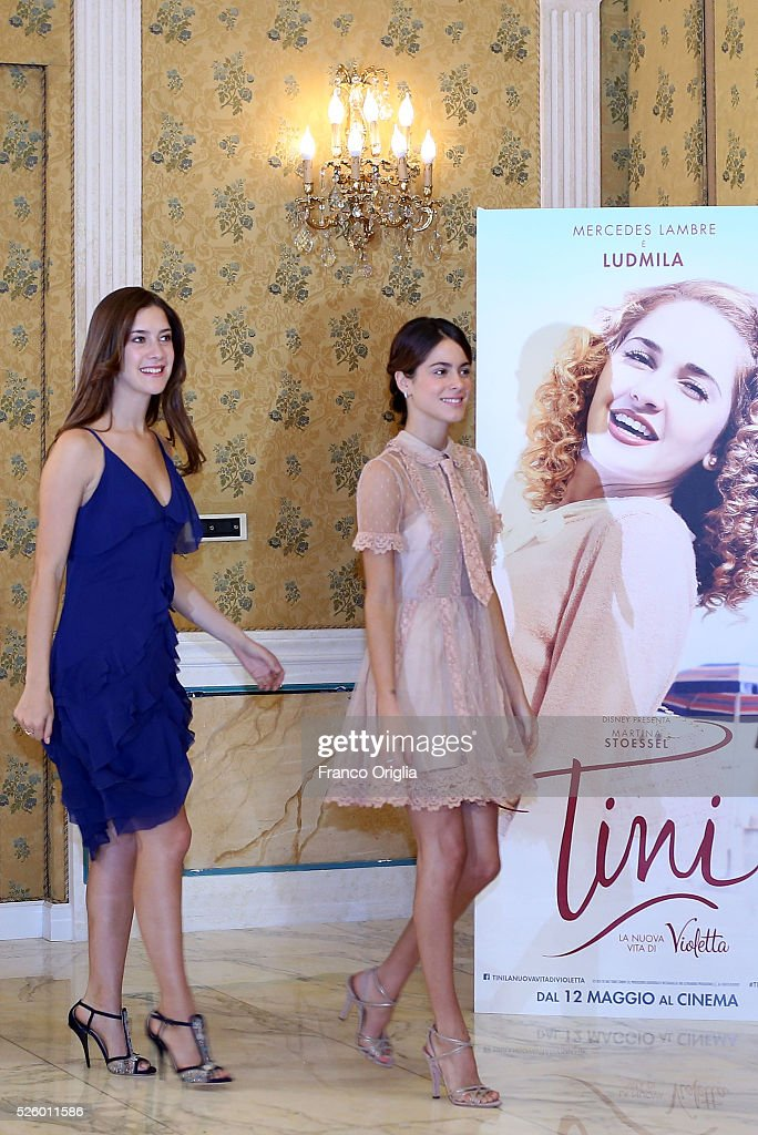 Clara Alonso and <a gi-track='captionPersonalityLinkClicked' href=/galleries/search?phrase=Martina+Stoessel&family=editorial&specificpeople=11048236 ng-click='$event.stopPropagation()'>Martina Stoessel</a> (R) attend 'Tini - The New Life Of Violetta' Photocall In Rome at Hotel Parco dei Principi on April 29, 2016 in Rome, Italy.