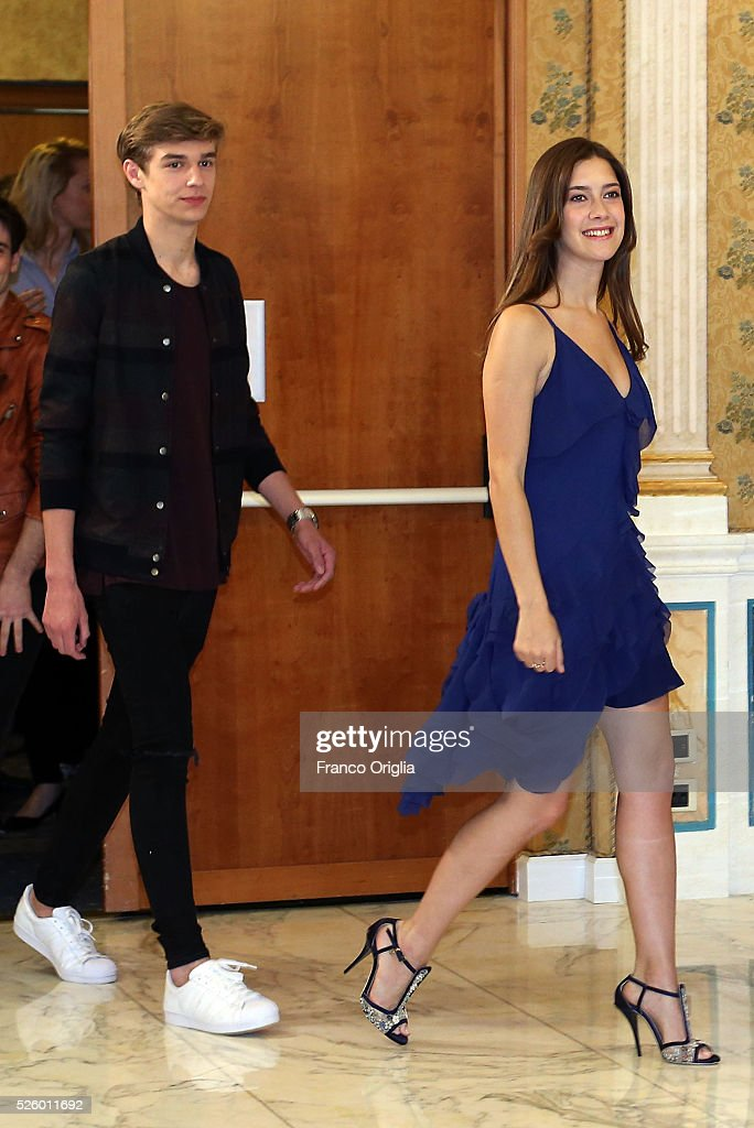 Clara Alonso and Ridder van Kooten attend 'Tini - The New Life Of Violetta' Photocall In Rome at Hotel Parco dei Principi on April 29, 2016 in Rome, Italy.