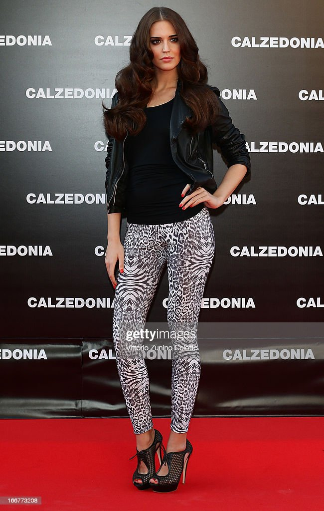 Clara Alonso attends Calzedonia Summer Show Forever Together on April 16, 2013 in Rimini, Italy.