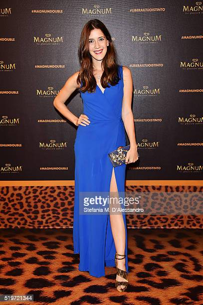 Clara Alonso attends 'Libera Il Tuo Istinto' Party by Magnum on April 7 2016 in Milan Italy