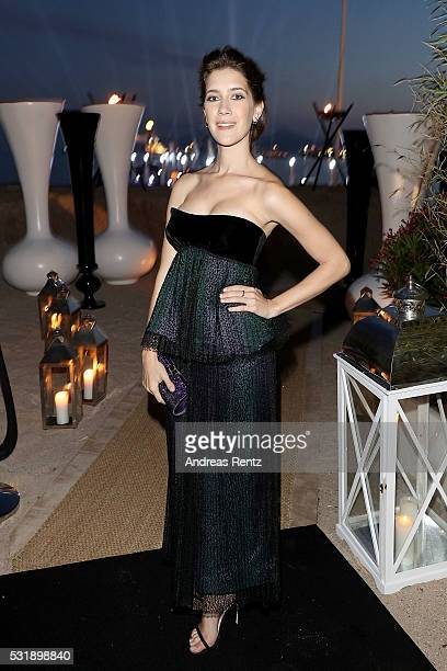 Clara Alonso attends The Harmonist Cocktail Party during The 69th Annual Cannes Film Festival at Plage du Grand Hyatt on May 16 2016 in Cannes