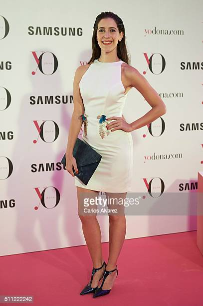 Clara Alonso attends the 'Yo Dona' Party MercedesBenz Madrid Fashion Week Autumn/Winter 2016/2017 at the NH Eurobuilding Hotel on February 18 2016 in...