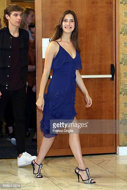 Clara Alonso attends 'Tini The New Life Of Violetta' Photocall In Rome at Hotel Parco dei Principi on April 29 2016 in Rome Italy