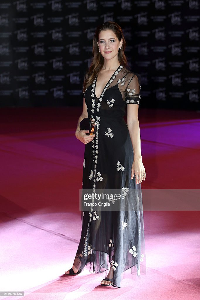 Clara Alonso attends 'Tini - The New Life Of Violetta' Premiere In Rome on April 29, 2016 in Rome, Italy.