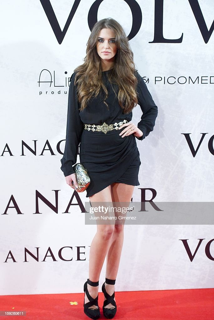Clara Alonso attends 'Venuto Al Mondo' (Volver A Nacer) premiere at Capitol cinema on January 10, 2013 in Madrid, Spain.