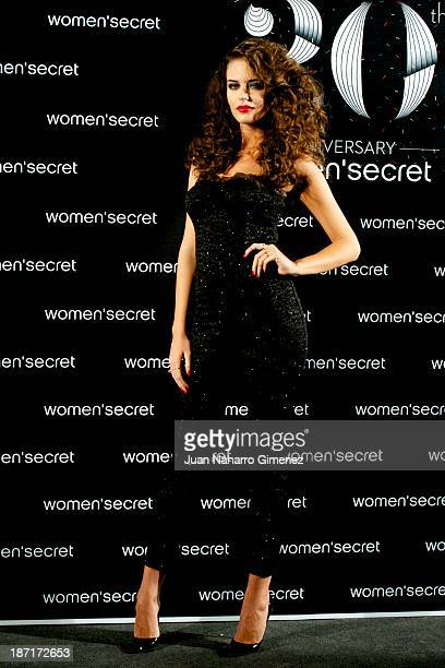 Clara Alonso attends Women'secret New Collection presentation 20th anniversary at Botanic Garden on November 6 2013 in Madrid Spain