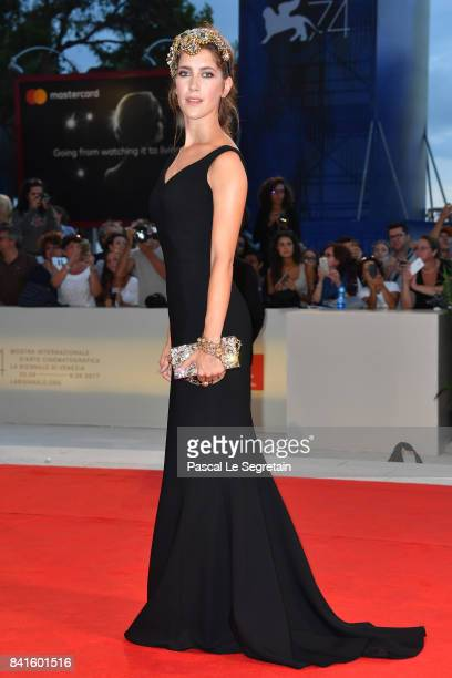 Clara Alonso walks the red carpet ahead of the 'Human Flow' screening during the 74th Venice Film Festival at Sala Grande on September 1 2017 in...