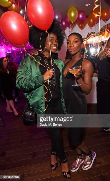 Clara Amfo and Michaela Coel attend the launch of The Curtain in Shoreditch on May 11 2017 in London England