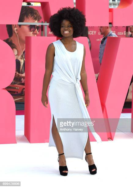 Clara Amfo attends the European premiere of 'Baby Driver' on June 21 2017 in London United Kingdom