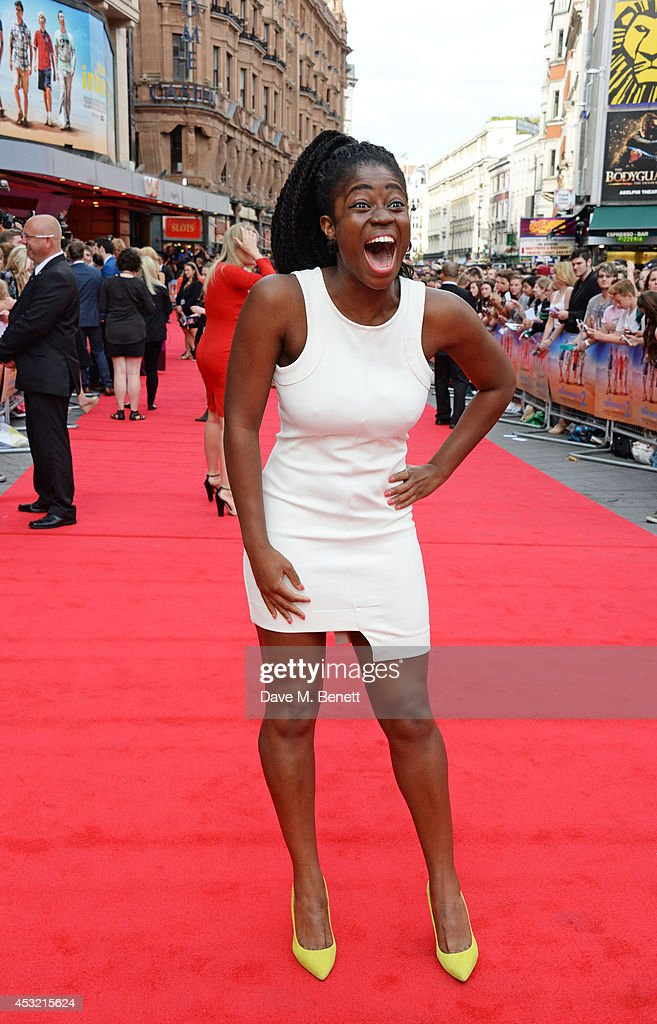 Clara Amfo attends the World Premiere of 'The Inbetweeners 2' at Vue West End on August 5, 2014 in London, England.