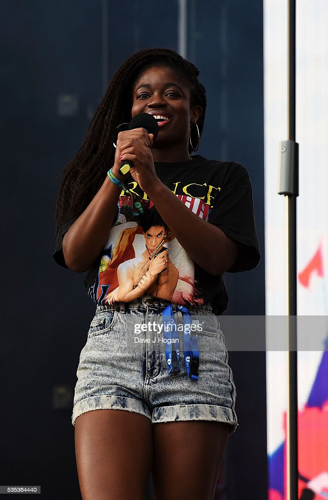 Clara Amfo on stage during day 2 of BBC Radio 1's Big Weekend at Powderham Castle on May 29, 2016 in Exeter, England.