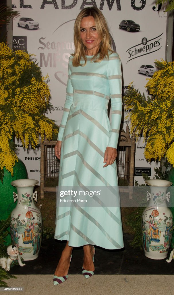 Clara Courel attends Jorge Vazquez Pret a Porter collection presentation photocall at Royal Botanic Garden on February 13, 2014 in Madrid, Spain.