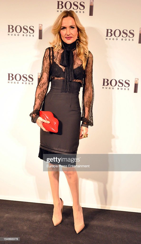 Clara Courel attends the launch of 'Boss Nuit Pour Femme' fragrance on October 29, 2012 in Madrid, Spain.