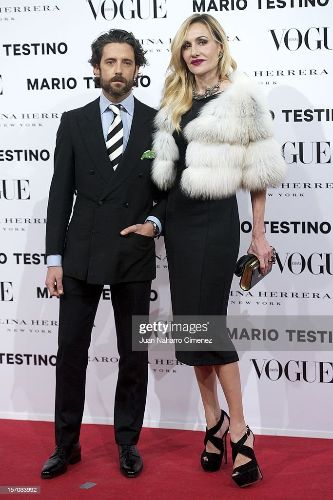 Clara Courel (R) attends the presentation launch of the Vogue December issue at Fernan Nunez Palace on November 27, 2012 in Madrid, Spain.