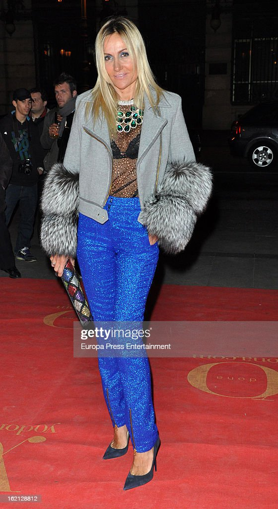 Clara Courel attends 'Yo Dona' magazine mask party on February 18, 2013 in Madrid, Spain.