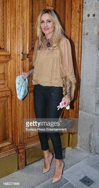 Clara Courel atttends the babyshower party of Silvia Casas on April 18 2013 in Madrid Spain