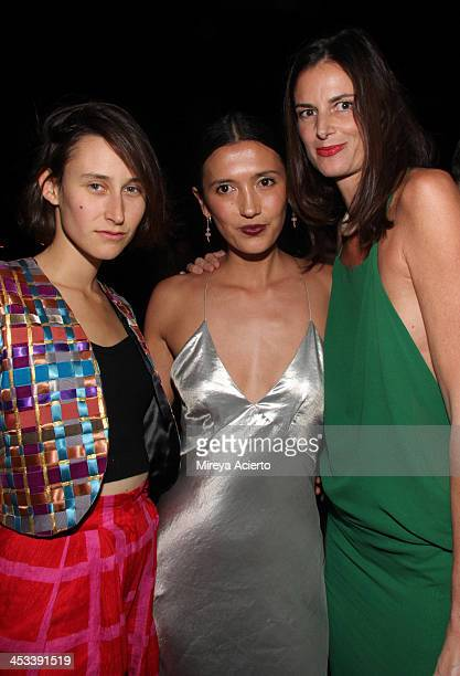 Clara Cullen Hikari Yokoyama and Claudia Donaldson at the Tracey Emin party hosted by Nick Jones Jay Jopling Rachel Lehmann and David Maupin at Soho...