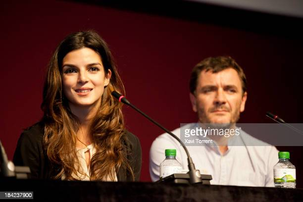 Clara Lago and Alex Brendemuhl attend 'German Cinema Season' in Barcelona on October 12 2013 in Barcelona Spain