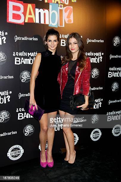 Clara Lago and Ursula Corbero attend 'Quien Mato a Bambi' premiere at La Cocina Rock Bar on November 12 2013 in Madrid Spain
