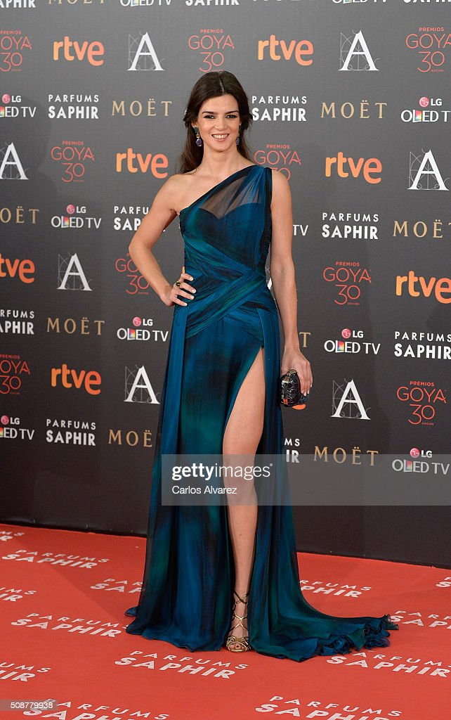 <a gi-track='captionPersonalityLinkClicked' href=/galleries/search?phrase=Clara+Lago&family=editorial&specificpeople=3378948 ng-click='$event.stopPropagation()'>Clara Lago</a> attends Goya Cinema Awards 2016 at Madrid Marriott Auditorium on February 6, 2016 in Madrid, Spain.