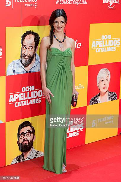 Clara Lago attends the 'Ocho Apellidos Catalantes' Premiere at capitol Cinema on November 18 2015 in Madrid Spain