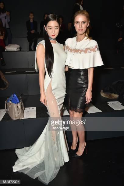 Clara Lee and Nicky Hilton Rothschild attend the Lanyu collection Front Row during New York Fashion Week The Shows at Gallery 1 Skylight Clarkson Sq...
