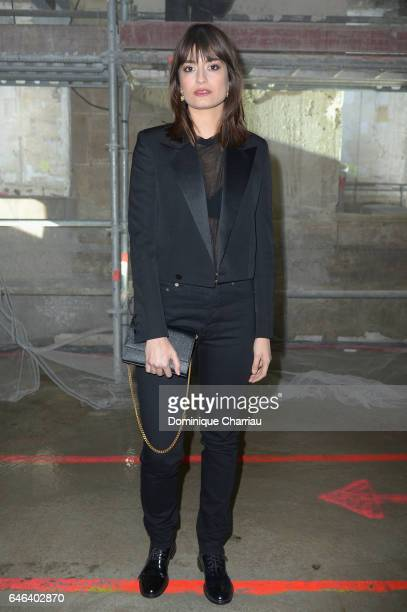 Clara Luciani attends the Saint Laurent show as part of the Paris Fashion Week Womenswear Fall/Winter 2017/2018 on February 28 2017 in Paris France