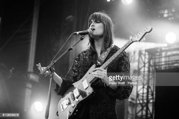 Clara Luciani performs at Fnac Live Day 03 on July 8 2017 in Paris France