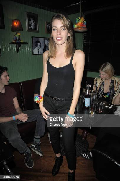 Clara Mathilde McGregor attends Wilhelmina and the Wolfpack close out New York Men's Fashion Week AW/17 with a summer vibes party at Bbar drinks...