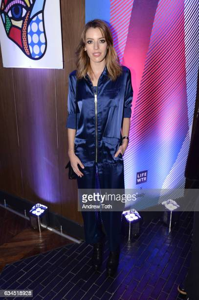 Clara McGregor attends The Daily Front Row x LIFEWTR New York Fashion Week opening night at Kola House on February 9 2017 in New York City