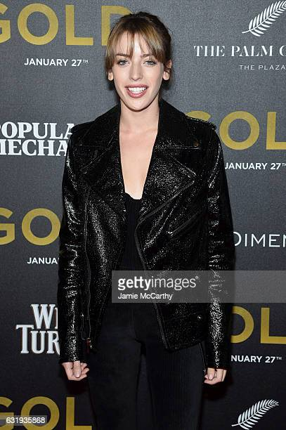 Clara McGregor attends The World Premiere of 'Gold' hosted by TWC Dimension with Popular Mechanics The Palm Court Wild Turkey Bourbon at AMC Loews...