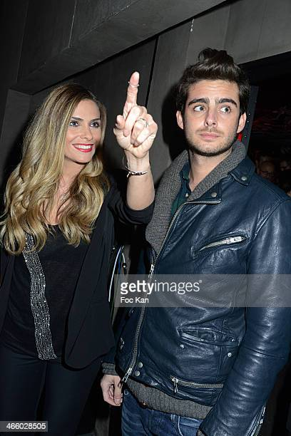 Clara Morgane and a guest attend the 'Melty Future Awards 2014' 1st Edition At Palais De Tokyo on January 230 2014 in Paris France