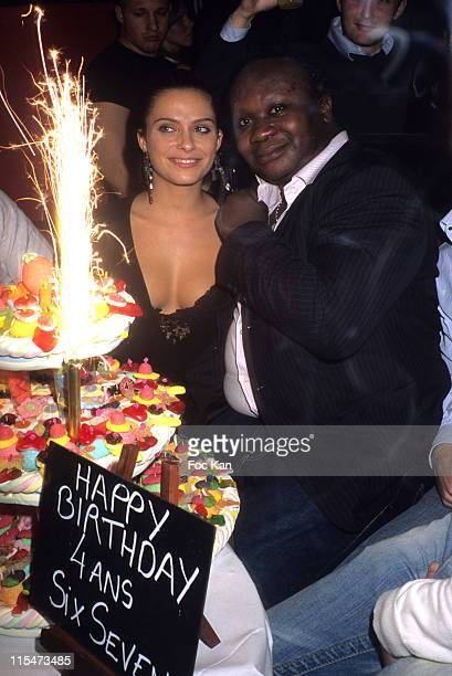 Clara Morgane and Magloire during Six Seven 4th Anniversary Party at Six Seven Club in Paris France
