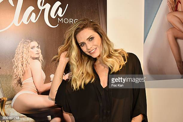 Clara Morgane attends the Clara Morgane 2017 Calendar Launch Party at Rue de La PerouseÊ on September 20 2016 in Paris France