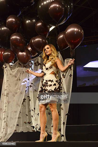 Clara Morgane attens the 'Salon Du Chocolat Chocolate Fair 20th Anniversary' At the Parc des Expositions Porte de Versailles on October 28 2014 in...