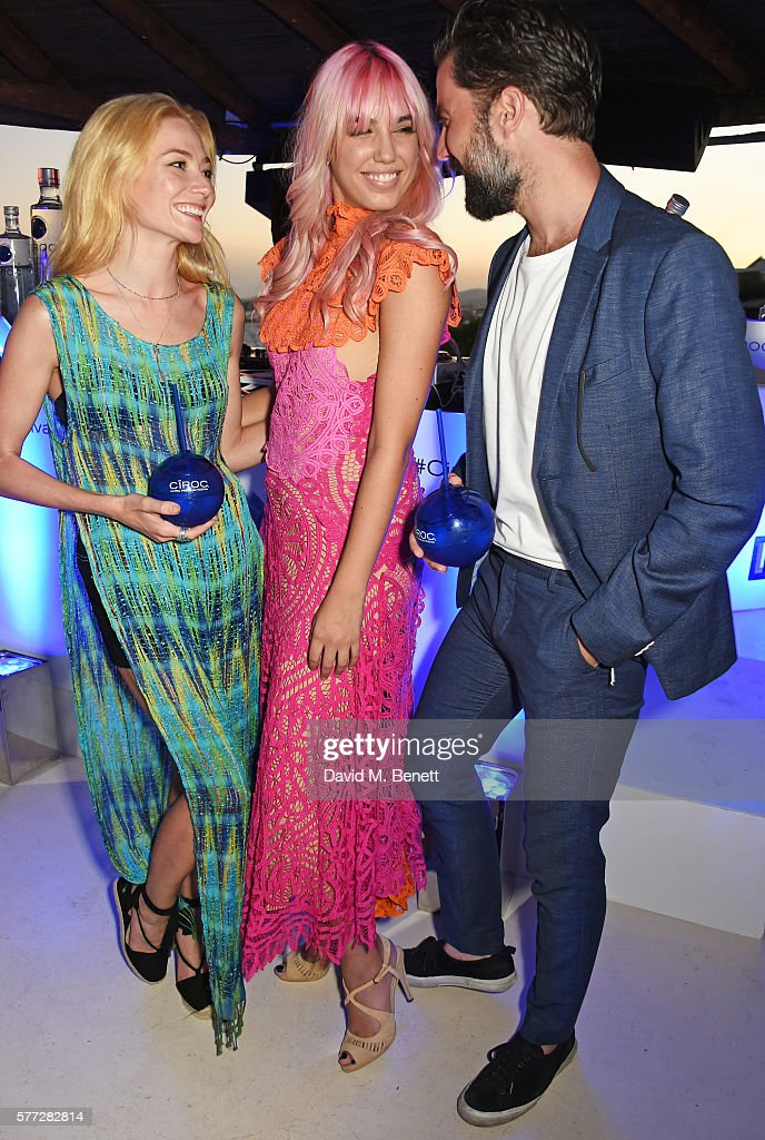 Clara Paget Amber Le Bon and Jack Guinness attend the CIROC On Arrival party in Ibiza hotspot Destino as model and DJ Amber Le Bon celebrated her...