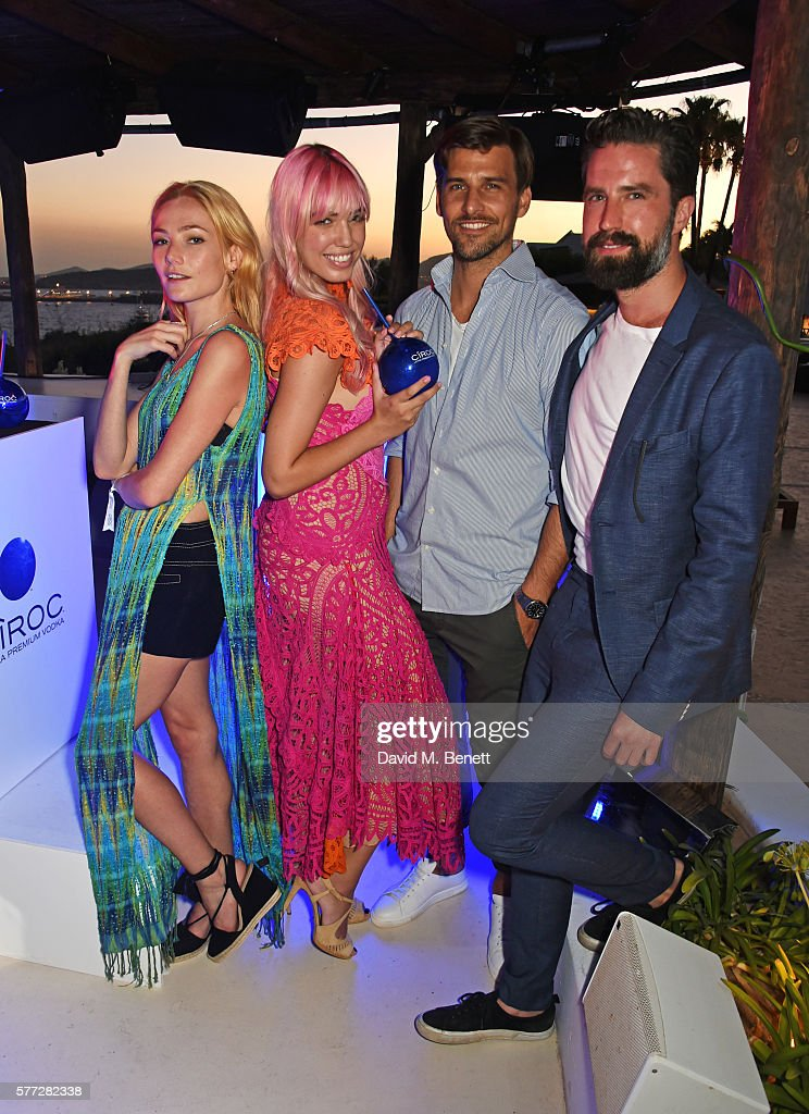 Clara Paget Amber Le Bon Johannes Huebl and Jack Guinness attend the CIROC On Arrival party in Ibiza hotspot Destino as model and DJ Amber Le Bon...