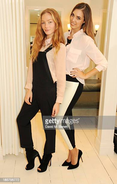 Clara Paget and Amber Le Bon attend a drinks reception celebrating the opening of Club Monaco's first London store in Westbourne Grove on October 24...