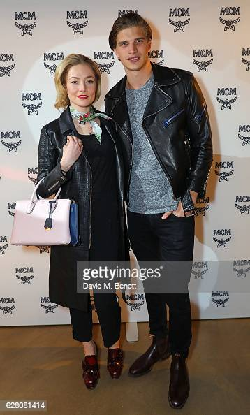 Clara Paget and and Toby HuntingtonWhiteley attend MCM's London Flagship Opening Party on December 6 2016 in London England