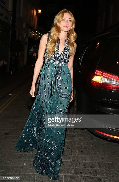 Clara Paget at Lou Lou's club on June 15 2015 in London England
