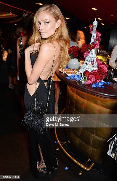Clara Paget attend as Lancome Caroline de Maigret host a private LFW dinner to celebrate 'How to be Parisian' at The Arts Club on September 15 2014...