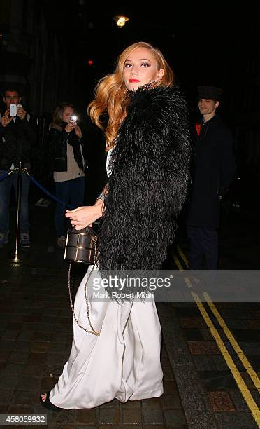 Clara Paget attending Mario Testinos Birthday party at the Chiltern Firehouse on October 29 2014 in London England