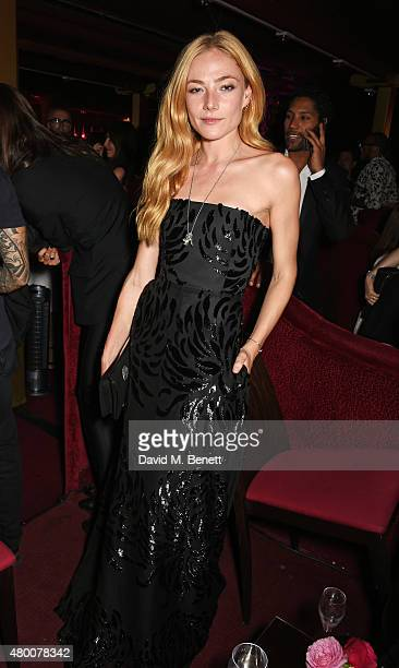 Clara Paget attends as Lancome celebrates 80 Years of beauty with all its ambassadresses at on July 7 2015 in Paris France