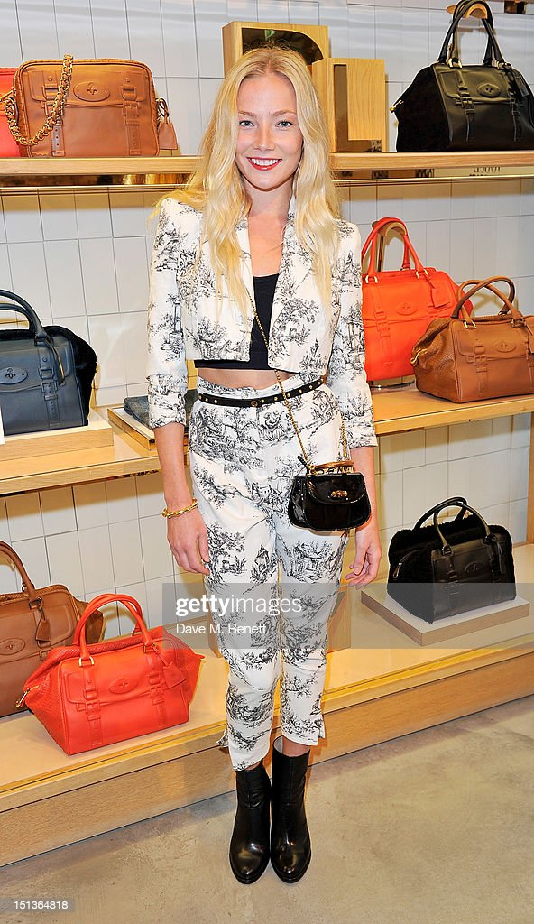 Clara Paget attends as Mulberry hosts the official launch event for Vogue Fashion's Night Out at their New Bond Street Store on September 6, 2012 in London, England.