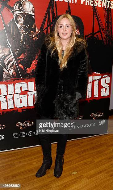 Clara Paget attends Friday Night VIP Event held in at Thorpe Park on October 9 2014 in Chertsey England