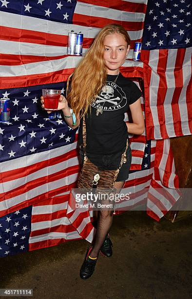 Clara Paget attends The Box's annual 4th of July party with Red Bull Studios on July 4 2014 in London England