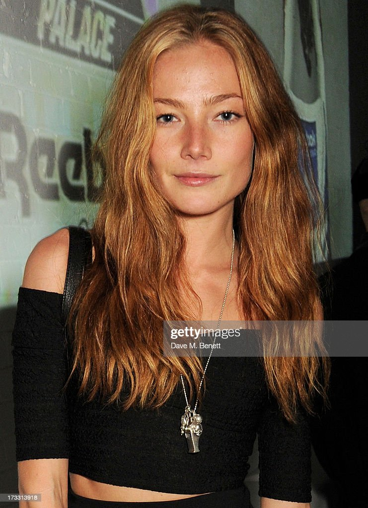 Clara Paget attends the Palace Skateboards x Reebok collaboration launch party at the Victorian Vaults on July 11, 2013 in London, England.