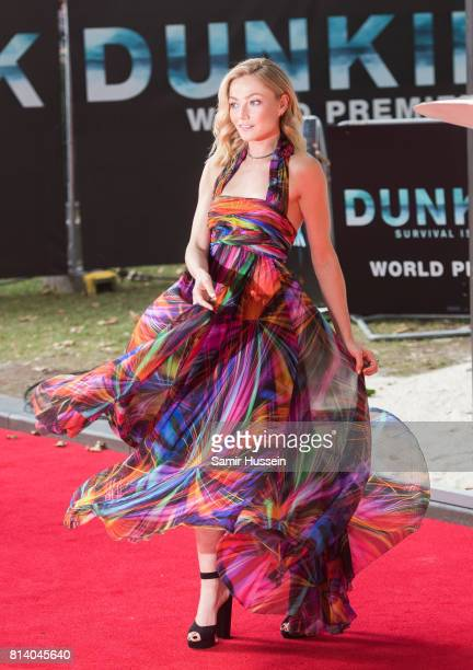 Clara Paget attendsthe 'Dunkirk' World Premiere at Odeon Leicester Square on July 13 2017 in London England